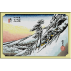 743.Hiroshige - Kameyama