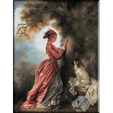025.Fragonard. Doamna cu catelul