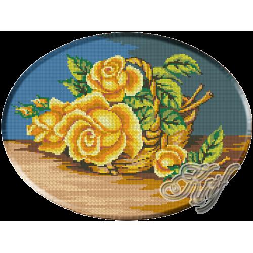 040. Cos cu trandafiri galbeni