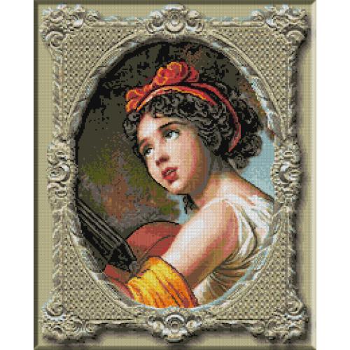 1117. Le Brun - Julie Le Brun cu chitara