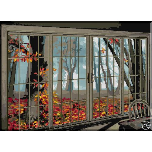 1130. Cristina - Covor de frunze in fereastra