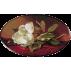1238 - Heade.Magnolie pe catifea rosie