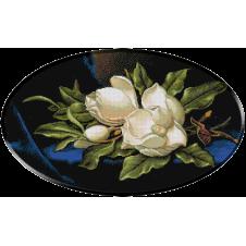 1239 - Heade.Magnolie pe catifea albastra