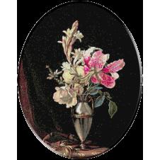 1241 - Heade.Vaza cu crini si trandafiri