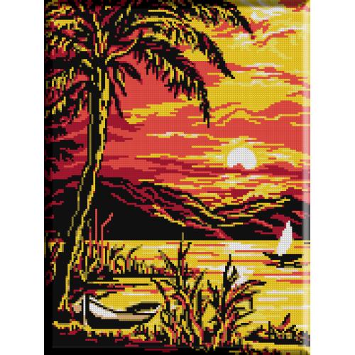 061. Peisaj exotic cu mare
