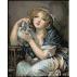 1337 - Greuze. Inocenta cu porumbei