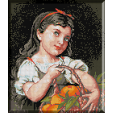 914.Munier -Fetita cu portocale