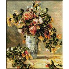935.Renoir -Trandafiri si iasomie in vaza de portelan