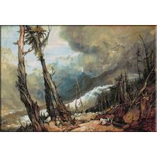 947.Turner-Izvorul inghetat al Arveronului curgand spre Marea Inghetata