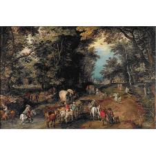 1403 - Jan Brueghel - Drum aglomerat