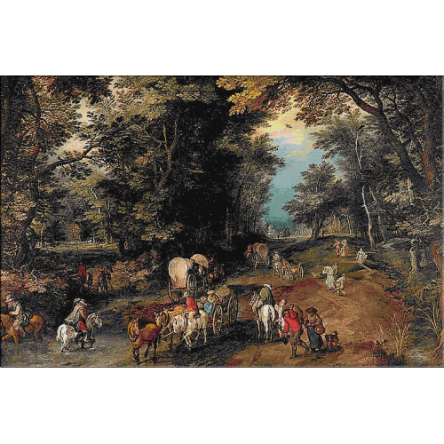 1403 - Jan Brueghel - Drum aglomerat