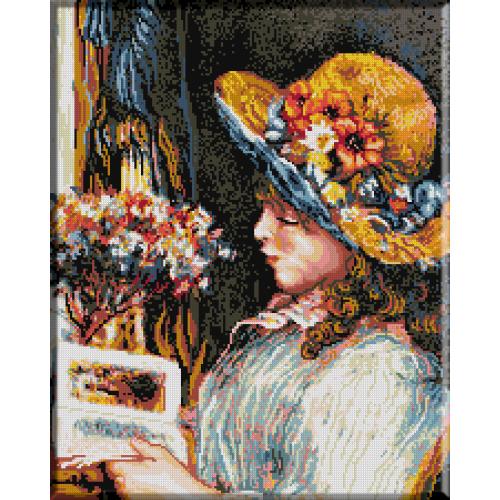 216. Renoir. Fetita cu palarie