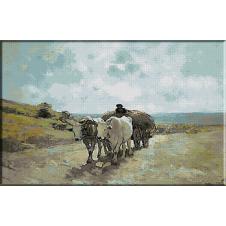 274.Grigorescu-Carul cu boi