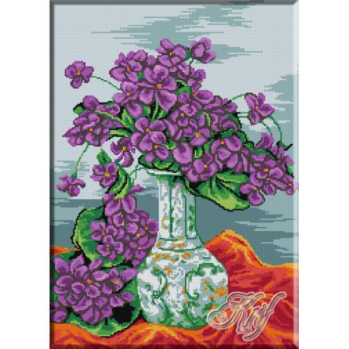 092. Vas cu violete