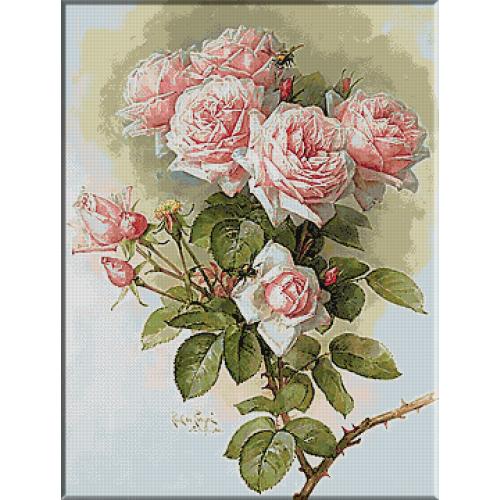 1692.Paul De Longpre - Buchet de trandafiri