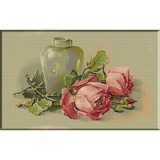 1589.Klein - Vas si trandafiri