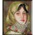 132.Andreescu- Taranca cu basma verde