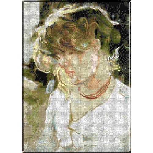 979.N.Grigorescu - Cap de fata blonda