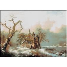 975.Kruseman-Peisaj de iarna..