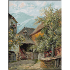 1868.Karl Flieher - Curte veche in Wachau
