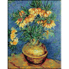 452.VanGogh - Crini in vas de cupru