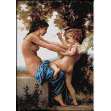 491.Bouguereau - Tanara aparandu-se de dragoste