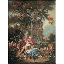501.Boucher - Pastorala de toamna