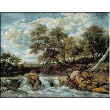 829.Van Ruisdael - Peisaj cu cascada
