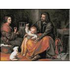 153.Murillo- Sf. Familie cu pasarea