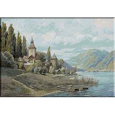 1864.Karl Flieher - Pe malul lacului Ossiach