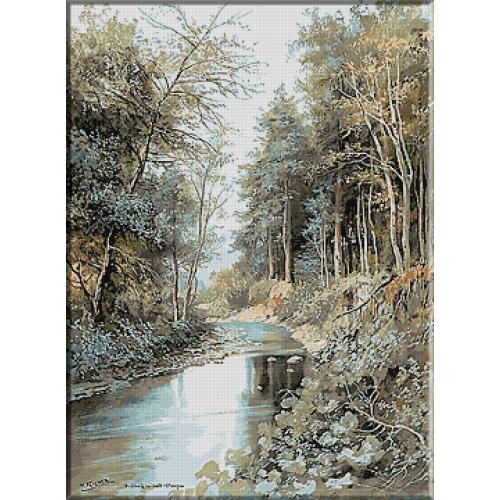 1867.Karl Flieher - Prin padurea de la Sulz-Stangau
