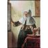 1837. Vermeer - Femeie la fereastra