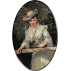 1844.William Powell Frith - Tanara cu rochie alba si palarie de paie