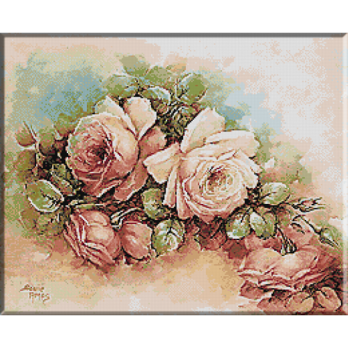 1870. Trandafiri roz