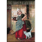 1889.Edmond Louyot - Fetita olandeza servind ceaiul