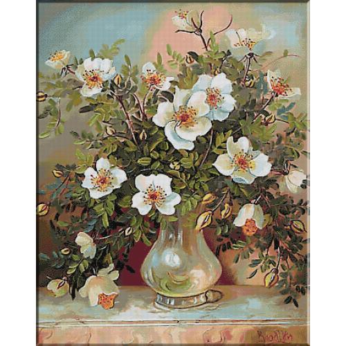 1997.Trandafiri salbatici pe masuta de marmura