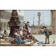 2111.Antonio Ermolao Paoletti - Copii hranind porumbei in Venetia