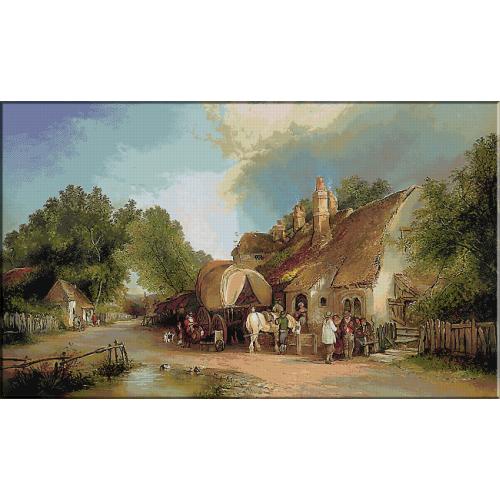 1904.William Shayer - Hanul de pe marginea drumului