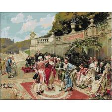 1909.Henry Victor Lesur - Petrecere in gradina