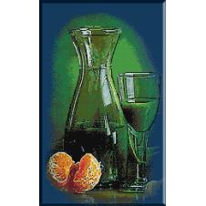 2118.Cristina - Un pahar de suc de kiwi si o portocala