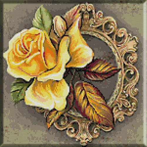 2141.Cristina.Trandafir galben