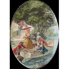 2136.Maurice Leloir - Petrecere pe lac