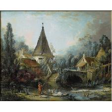 1435.Boucher - Peisaj langa Beauvais