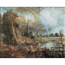 1830.Constable - Catedrala Salisbury privita din Meadows