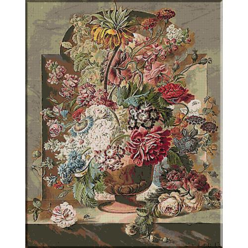 2154.Pieter van Loo-Vas cu flori