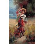 2179.Zatska.Fata cu flori de camp