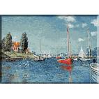 412.Monet - Barci rosii