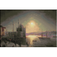 928.Aivazovski - Lumina lunii in Bosfor