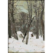 128.Andreescu- Iarna la padure