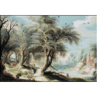 goblen_Gijsbrecht Leytens_Peisaj cu culegatorii de lemne